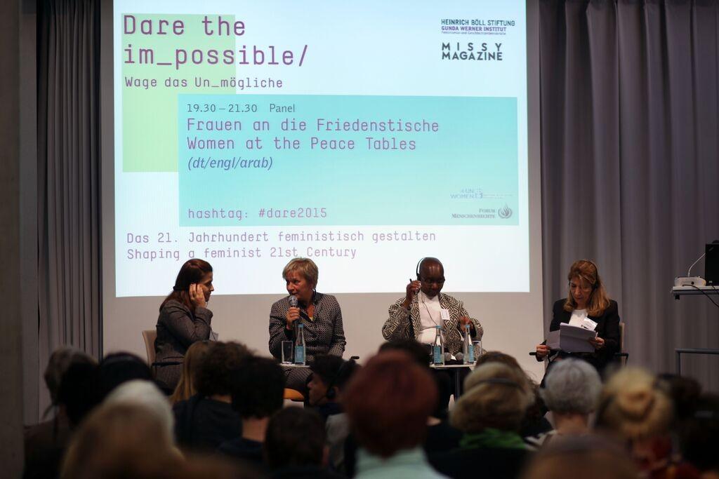 Panel Friedenstische Sprecherinnen